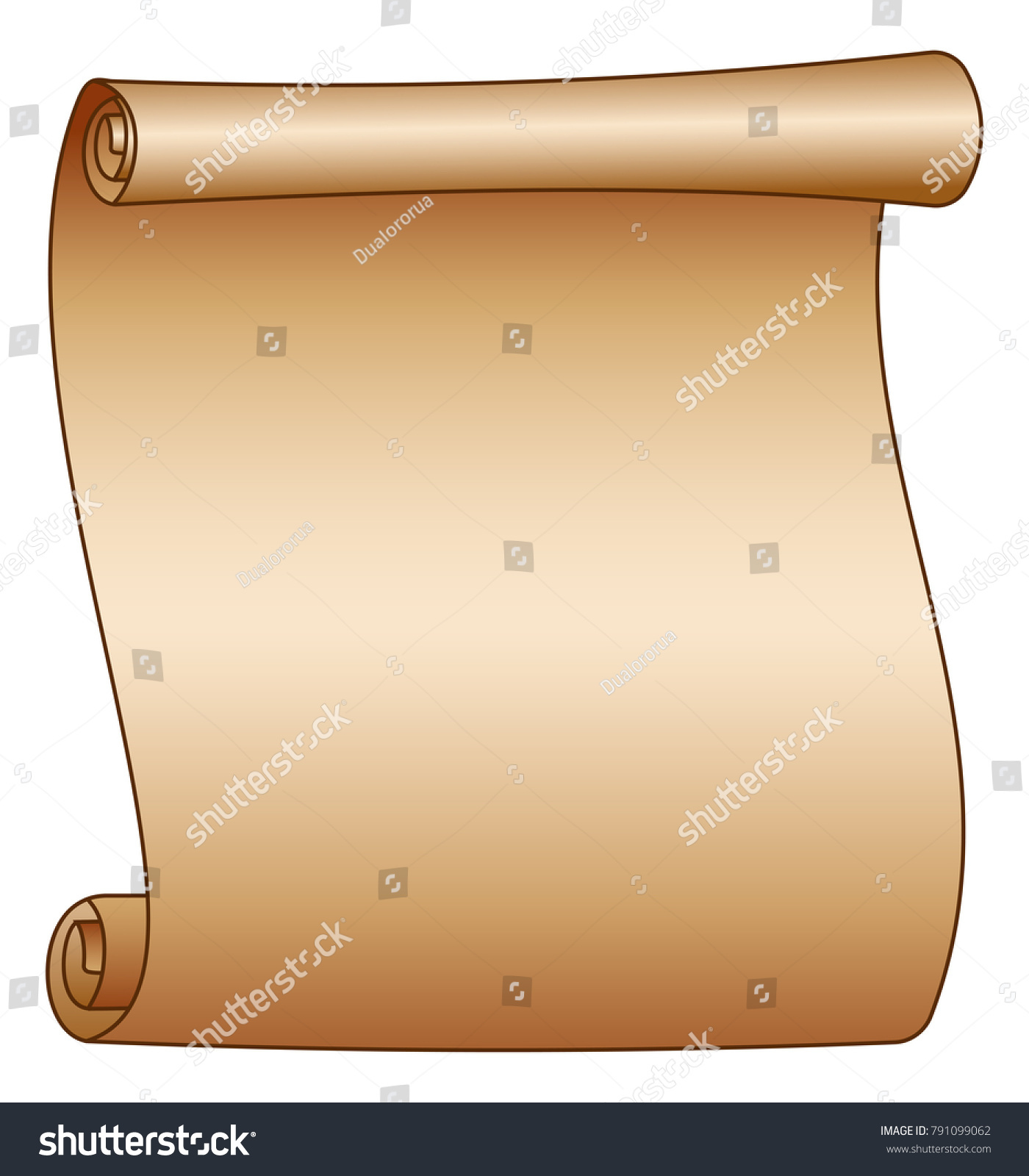 old blank scroll paper on white stock vector 791099062 - shutterstock, Powerpoint templates