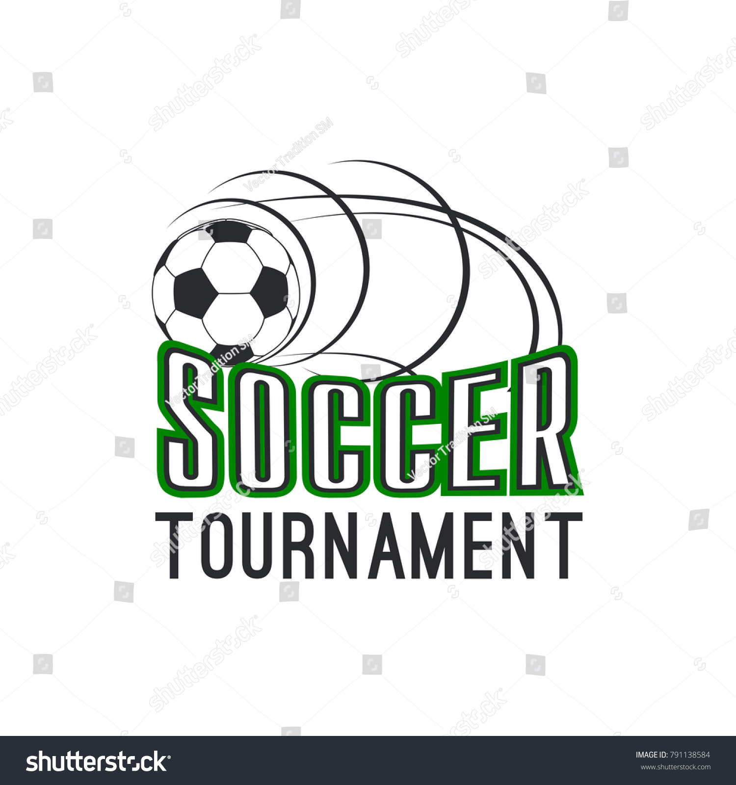 Soccer tournament icon design template football stock vector soccer tournament icon design template of football ball flying for goal vector isolated symbol for buycottarizona