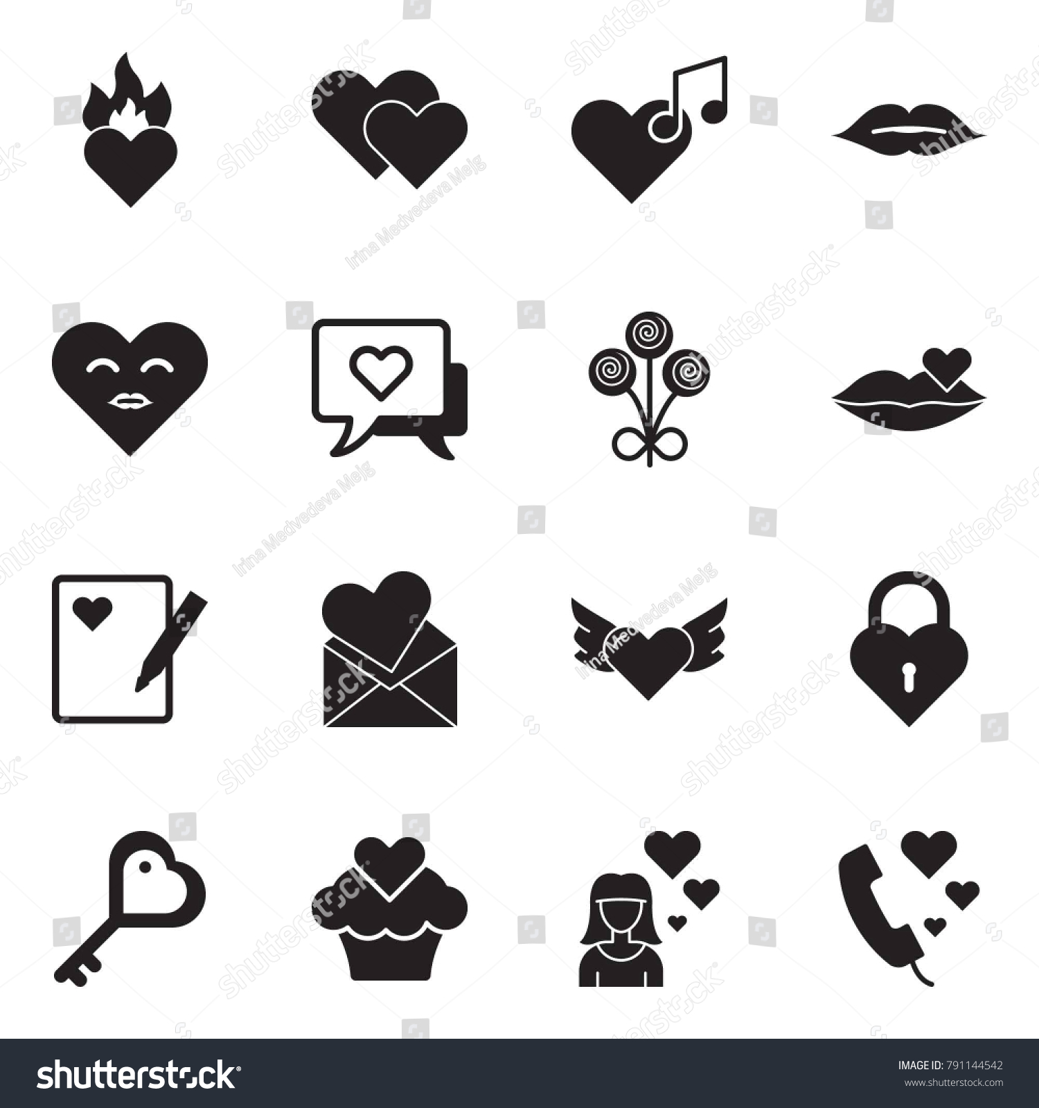 Kiss message symbol gallery symbol and sign ideas solid black vector icon set burning stock vector 791144542 solid black vector icon set burning heart biocorpaavc