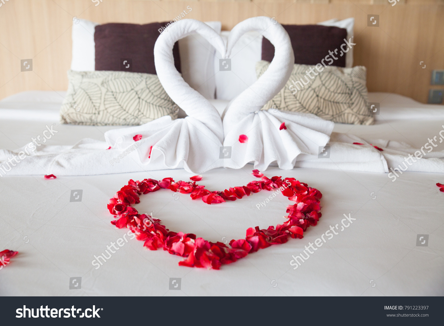 Red Roses Petal Heart Shaped On Stock Photo Edit Now 791223397