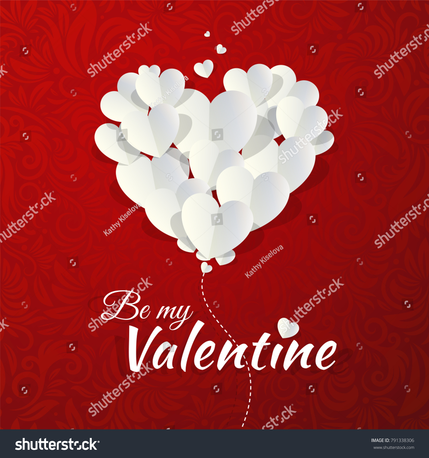 Romantic Valentines Day Invitation Card Vector Stock Vector (Royalty ...