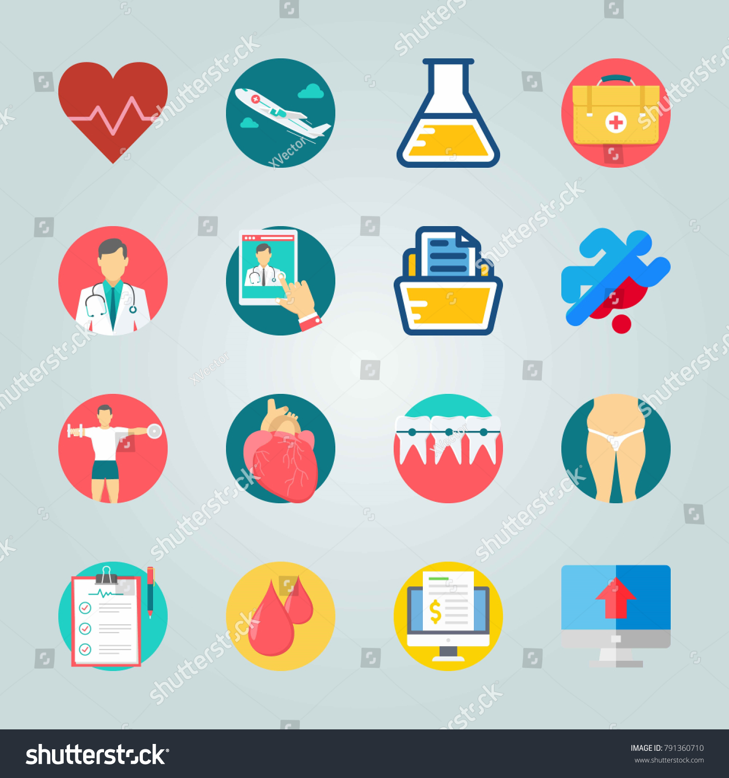 Icon set about medical flask heart stock vector 791360710 icon set about medical with flask heart and fat biocorpaavc