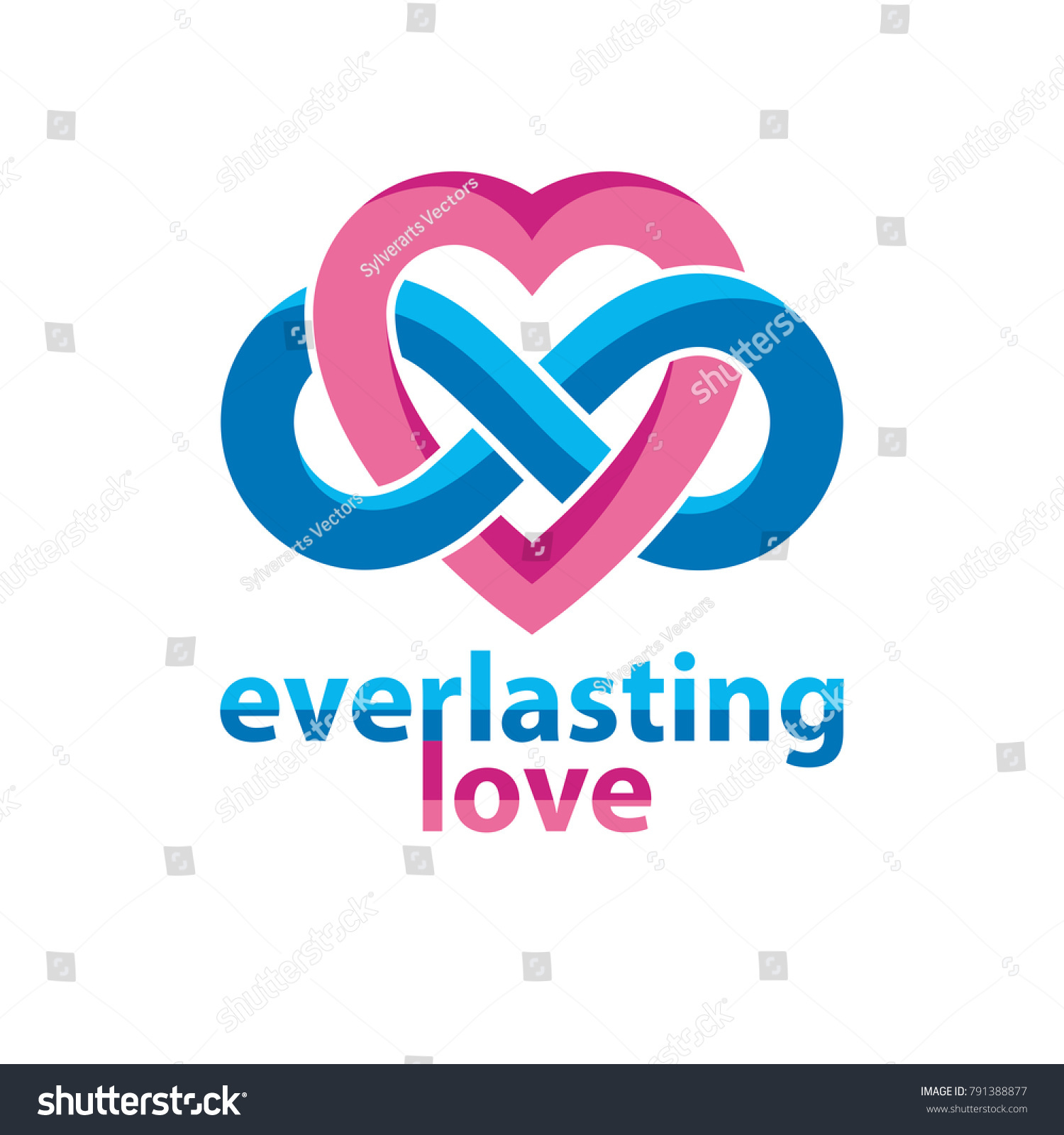 Everlasting love concept vector symbol created stock vector everlasting love concept vector symbol created with infinity loop sign and heart biocorpaavc