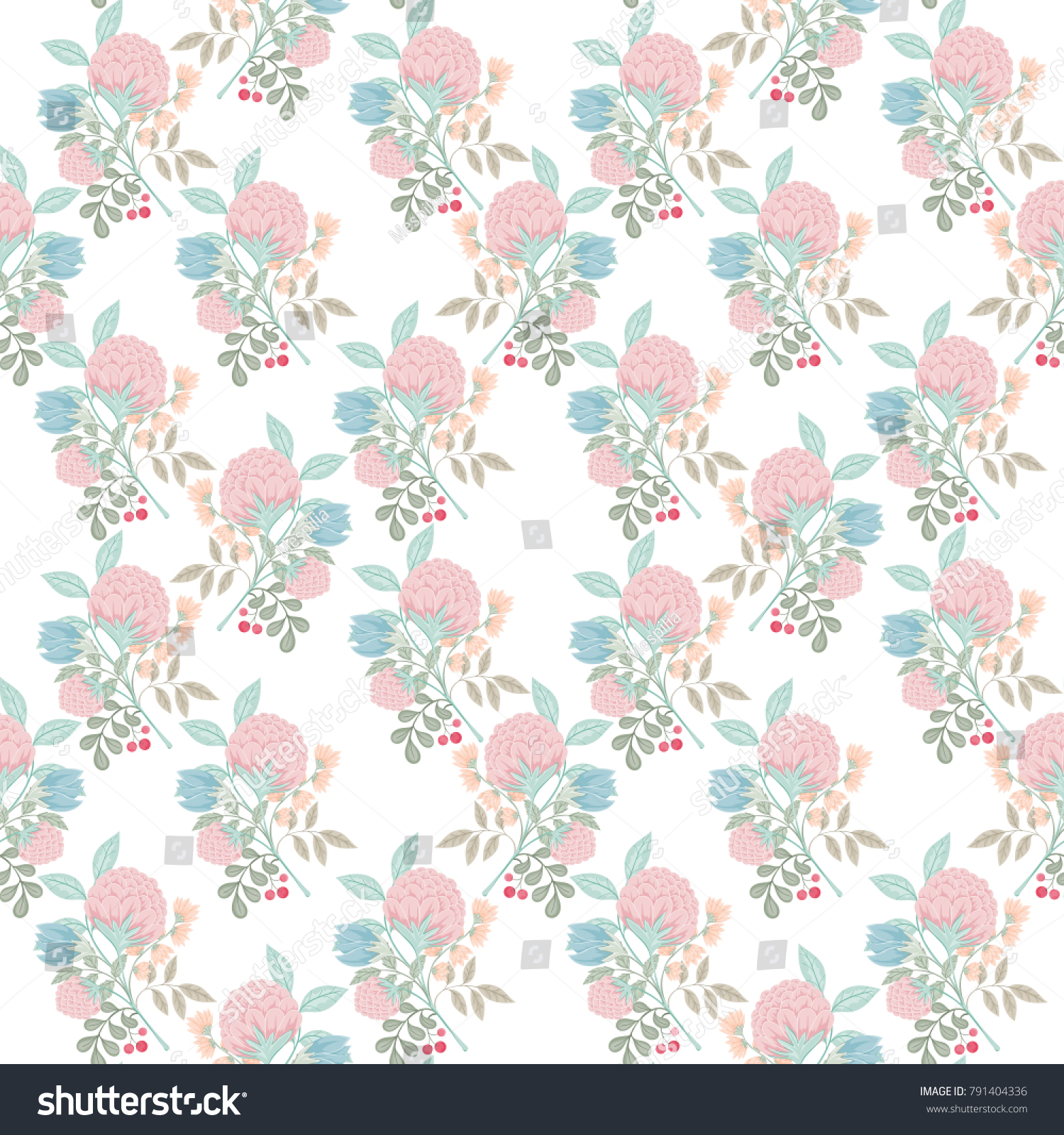 Spring Flower Seamless Pattern Wallpaper Website Stock Vector ... for Light Background Patterns For Websites  75sfw
