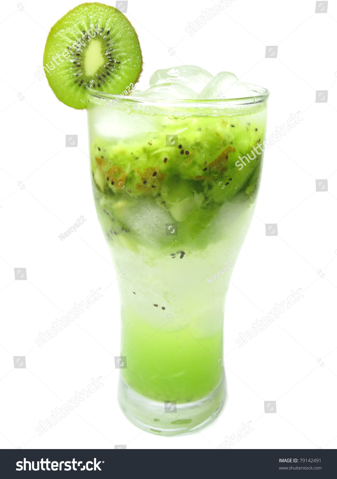 Alcoholic green liqueur cocktail with kiwi fruit stock for Cocktail kiwi