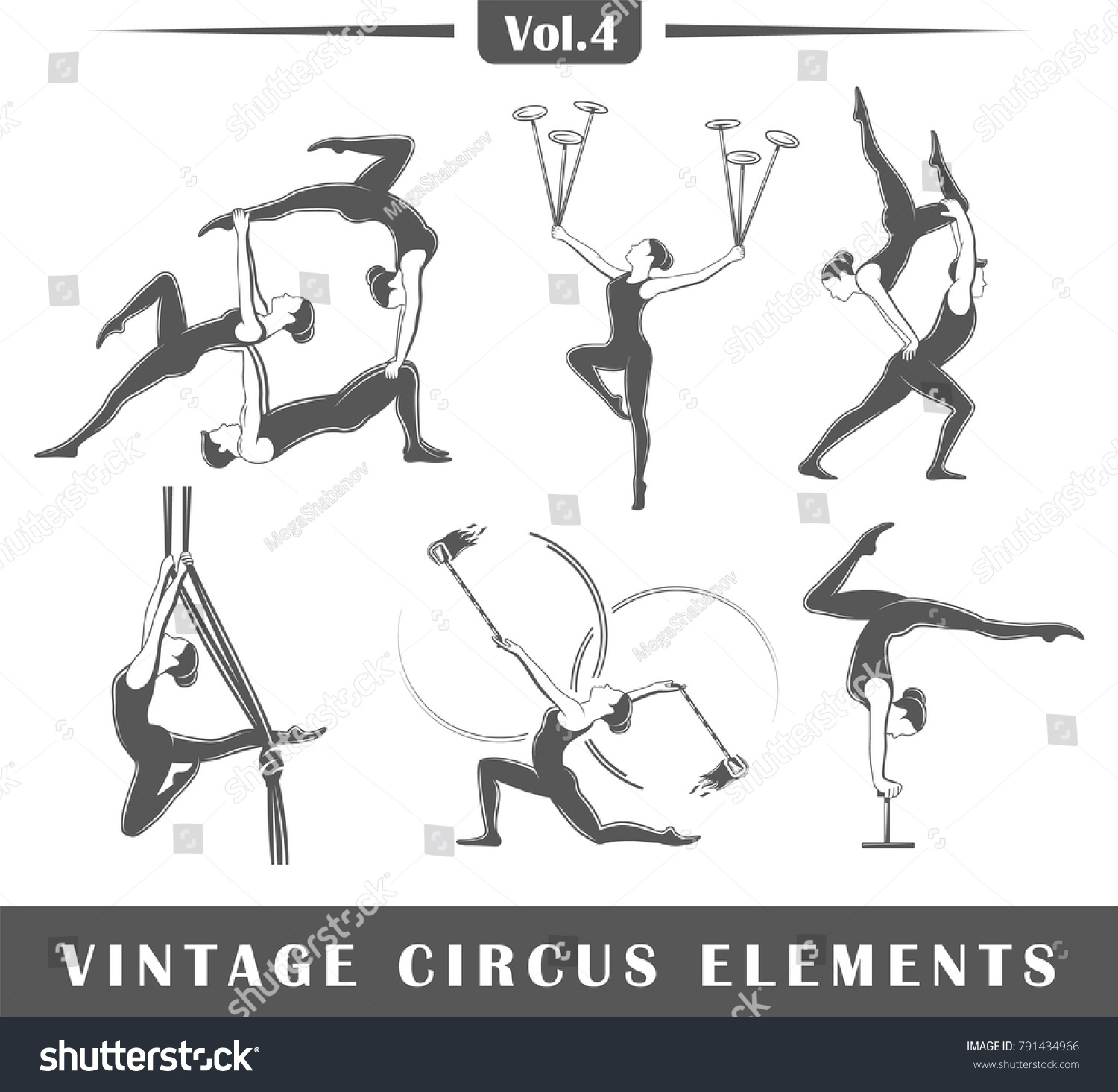 Set elements circus isolated on white stock vector 791434966 set of elements of the circus isolated on white background symbols for circus design logos biocorpaavc Gallery