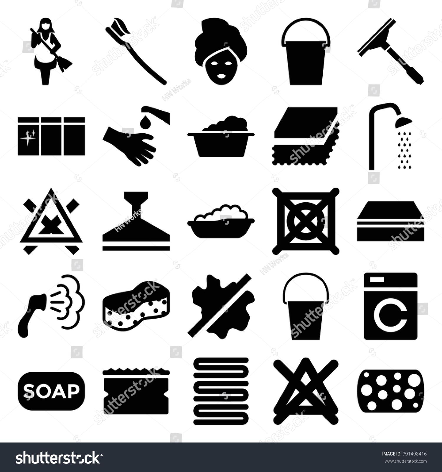 Wash icons set 25 editable filled stock vector 791498416 wash icons set of 25 editable filled wash icons such as washing machine baby biocorpaavc
