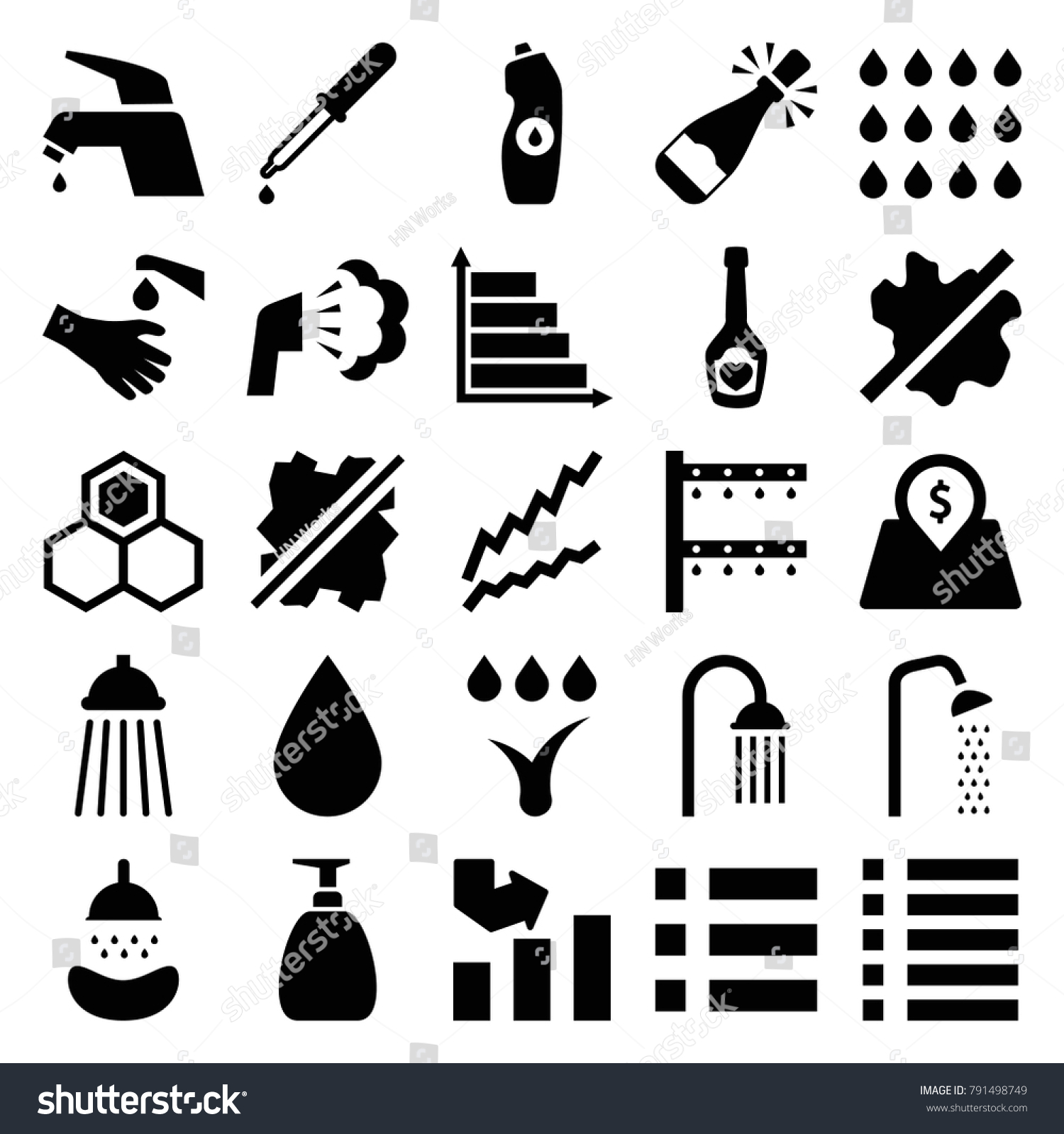 Drop icons set 25 editable filled stock vector 791498749 drop icons set of 25 editable filled drop icons such as no wash shower biocorpaavc