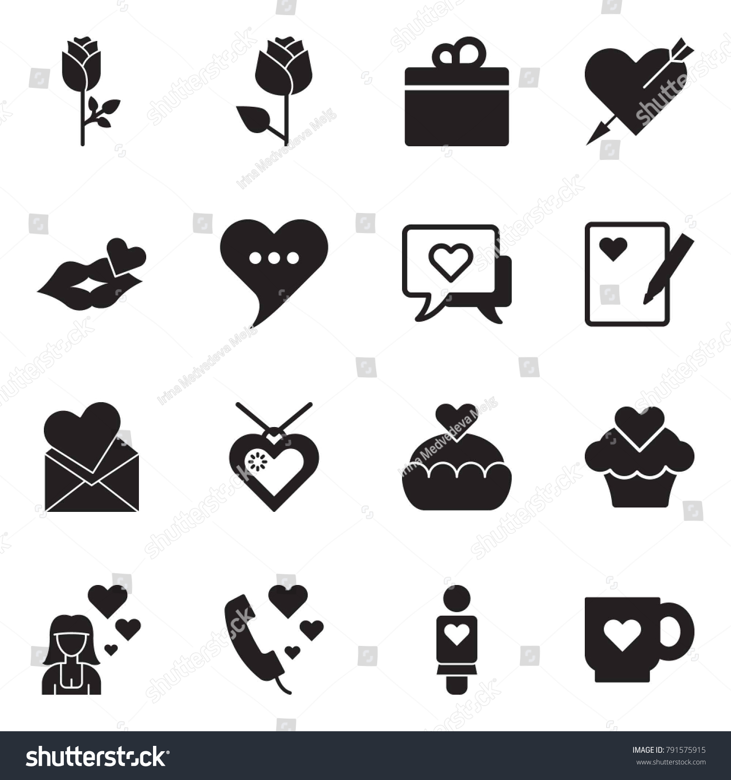 Kiss message symbol gallery symbol and sign ideas solid black vector icon set rose stock vector 791575915 shutterstock solid black vector icon set rose biocorpaavc