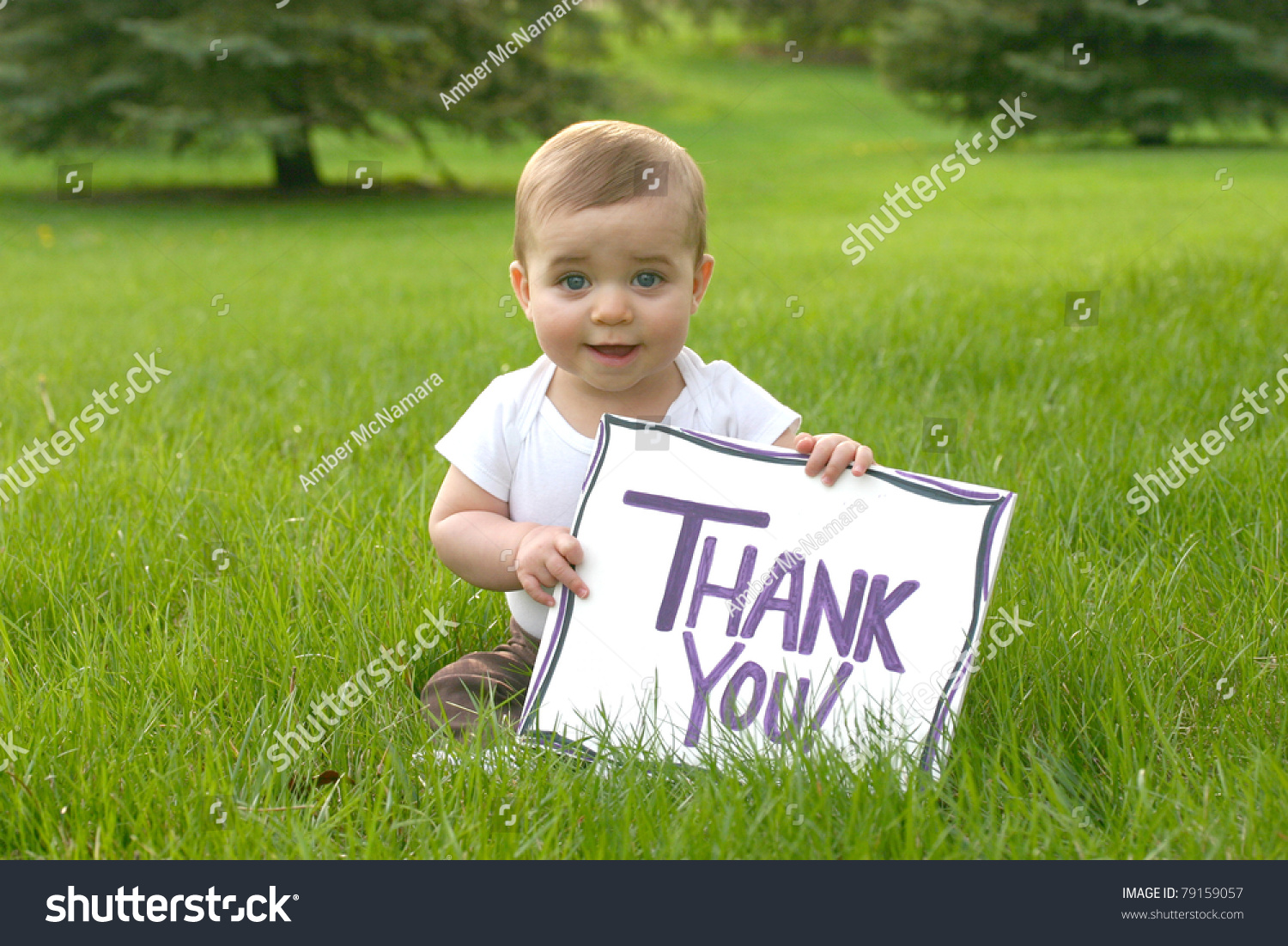 Baby Thank You Sign Stock Photo 79159057 - Shutterstock