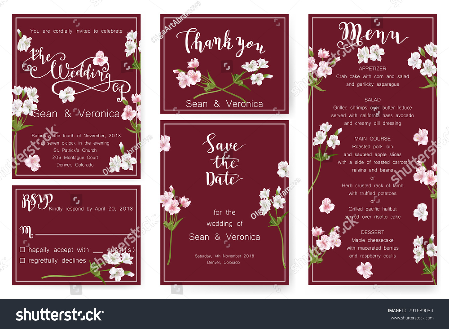 Save Date Card Wedding Invitation Greeting Stock Vector (Royalty ...