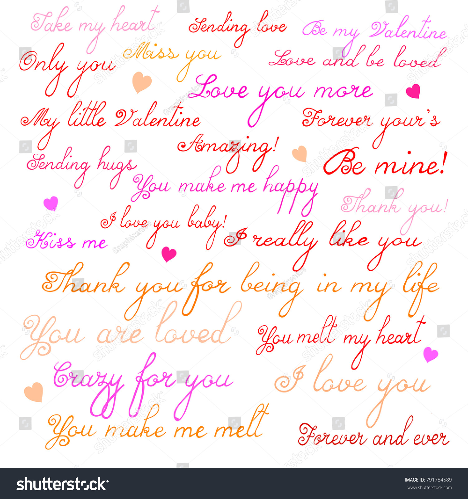 Love Inspirational Quotes Set 24 Inspirational Quotes About Love Stock Vector 791754589