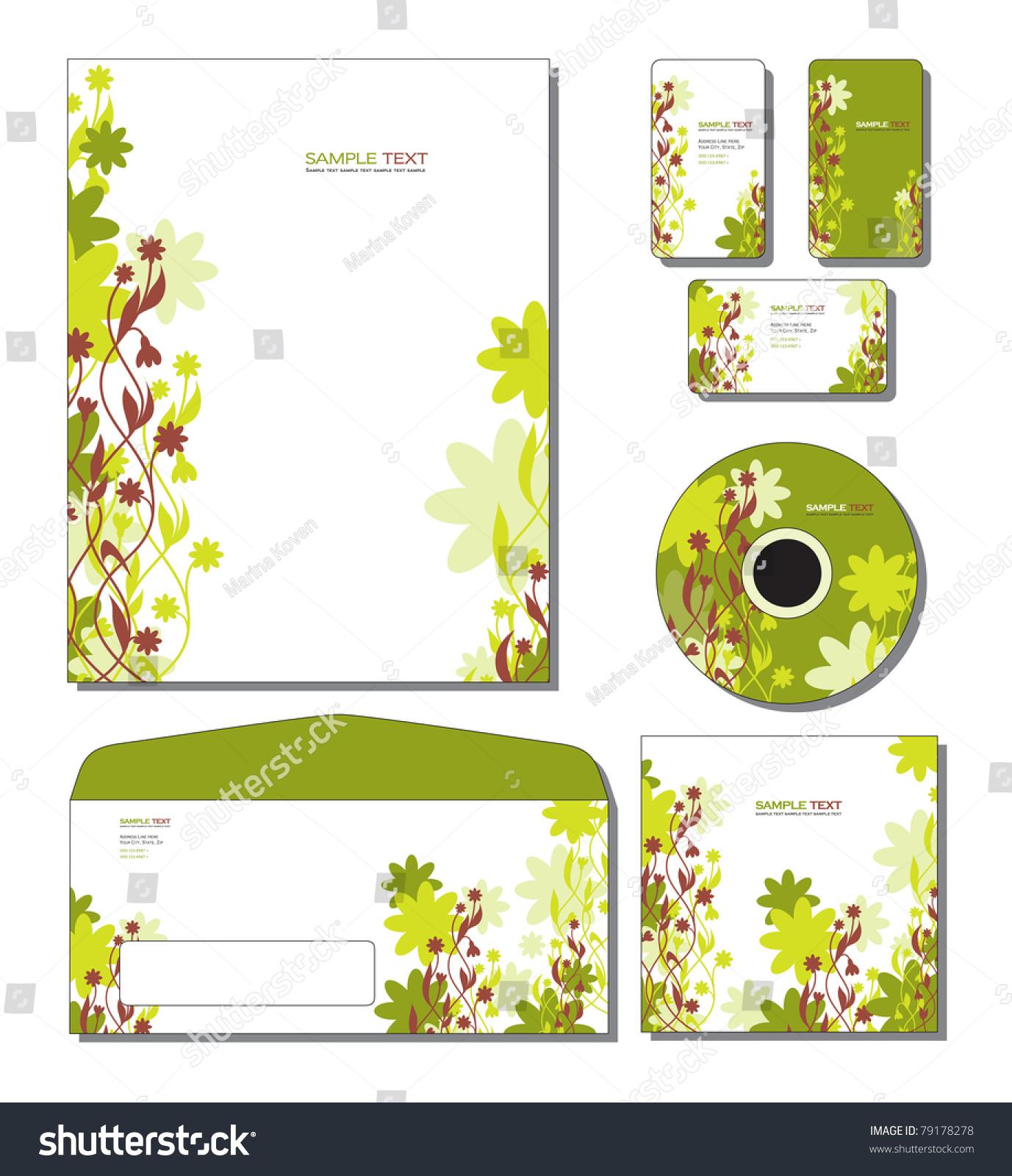 Corporate template vector letterhead business gift stock vector corporate template vector letterhead business and gift cards cd cd cover colourmoves Choice Image