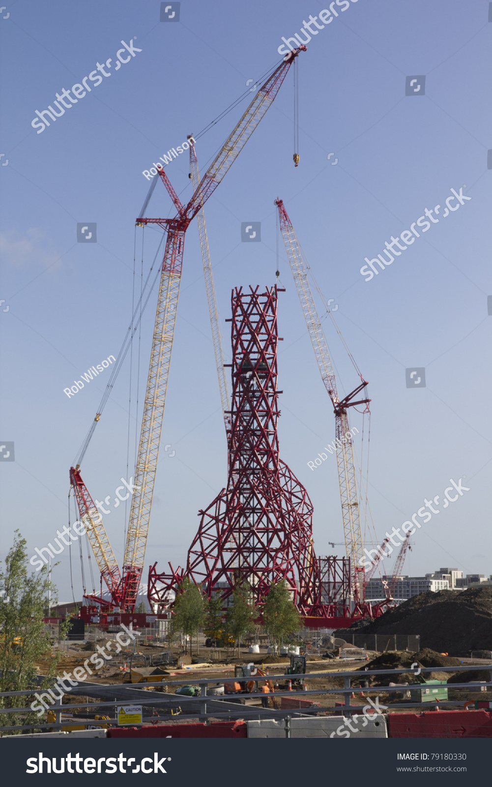 London may 31 arcelormittal orbit nears stock photo 79180330 london may 31 the arcelormittal orbit nears completion in the olympic park in stratford buycottarizona