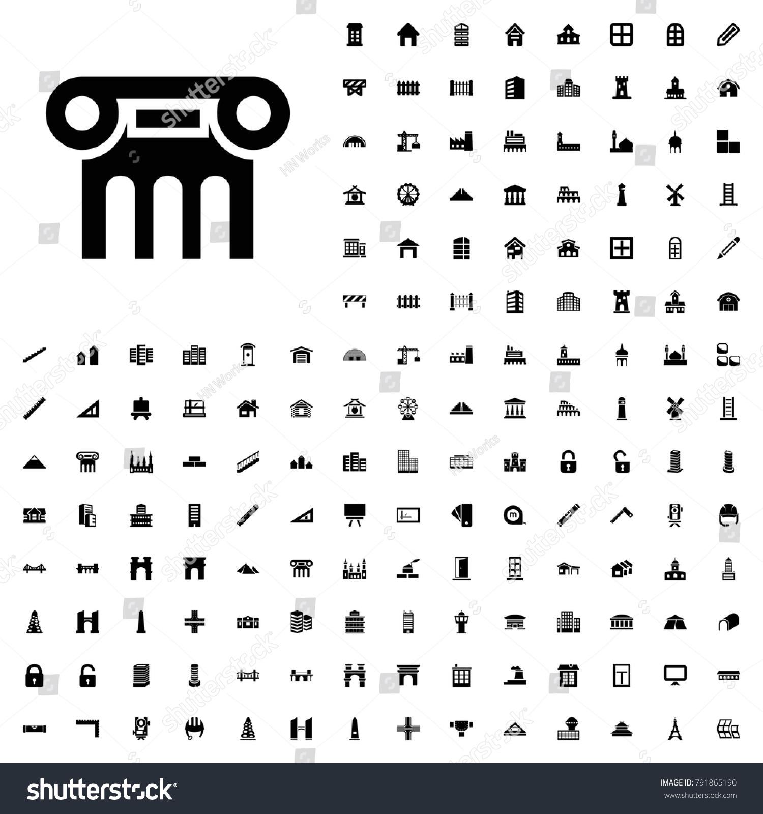 Greek Column Icon Illustration Isolated Vector Stock Photo Photo