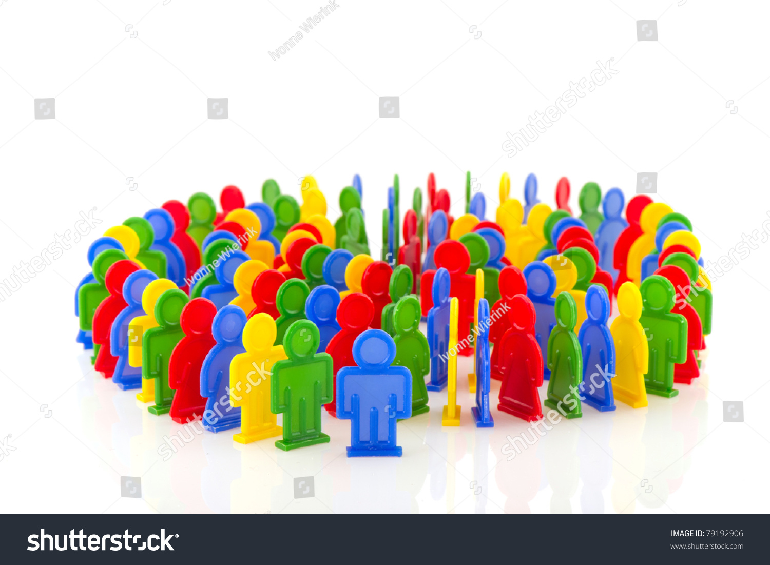 Circle Colorful People Domino Effect Stock Photo 79192906 ... Colorful People