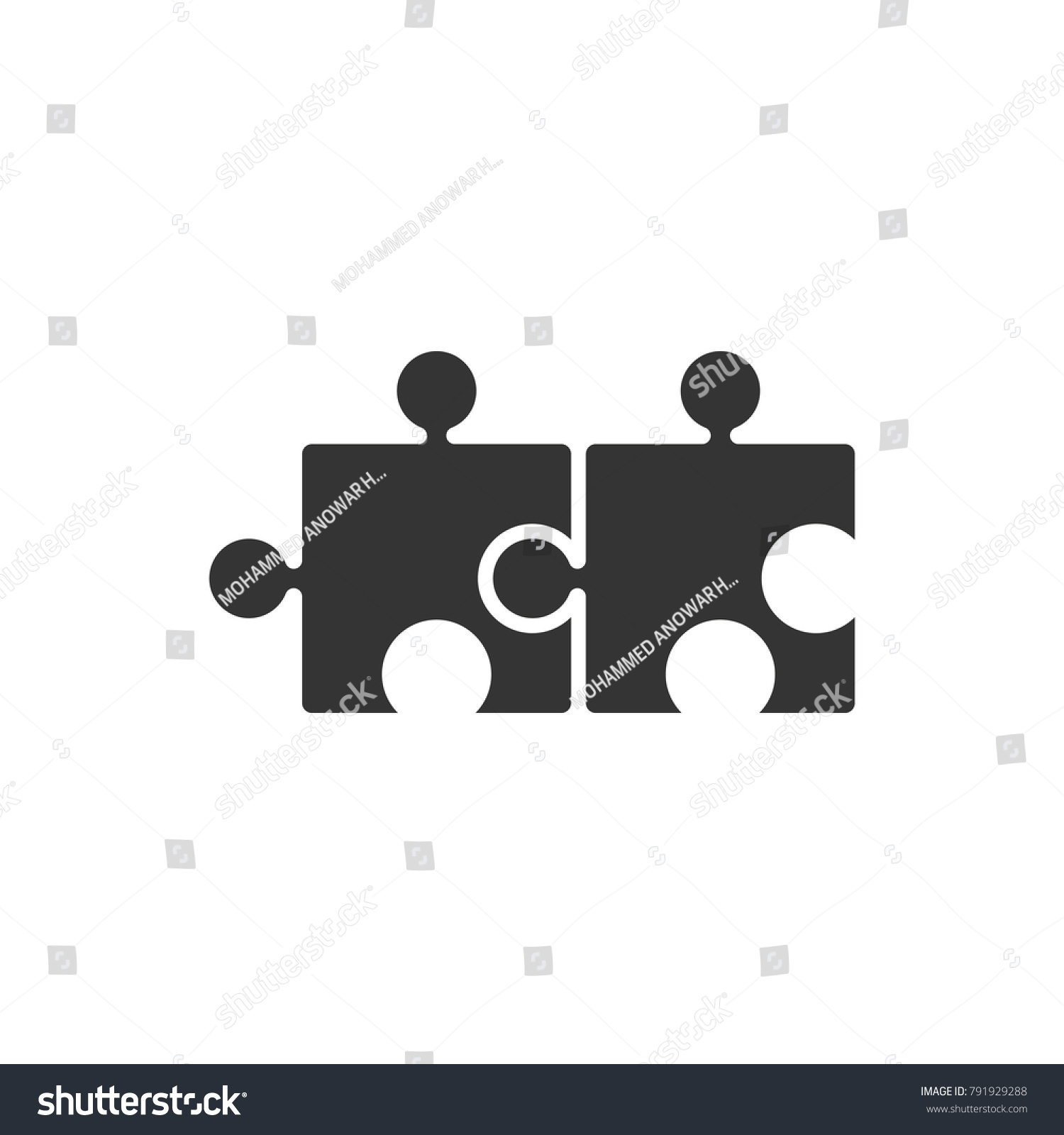 Puzzle Solution Icon Stock Vector Royalty Free 791929288