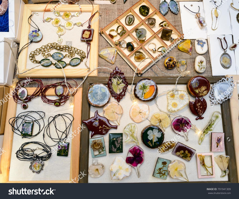 Handmade Creative Beautiful Jewellery Accessories On Stock Photo Edit Now 791941309