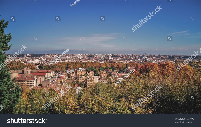 Rome Italy November 2017 Panoramic Views Stock Photo (Royalty Free ...
