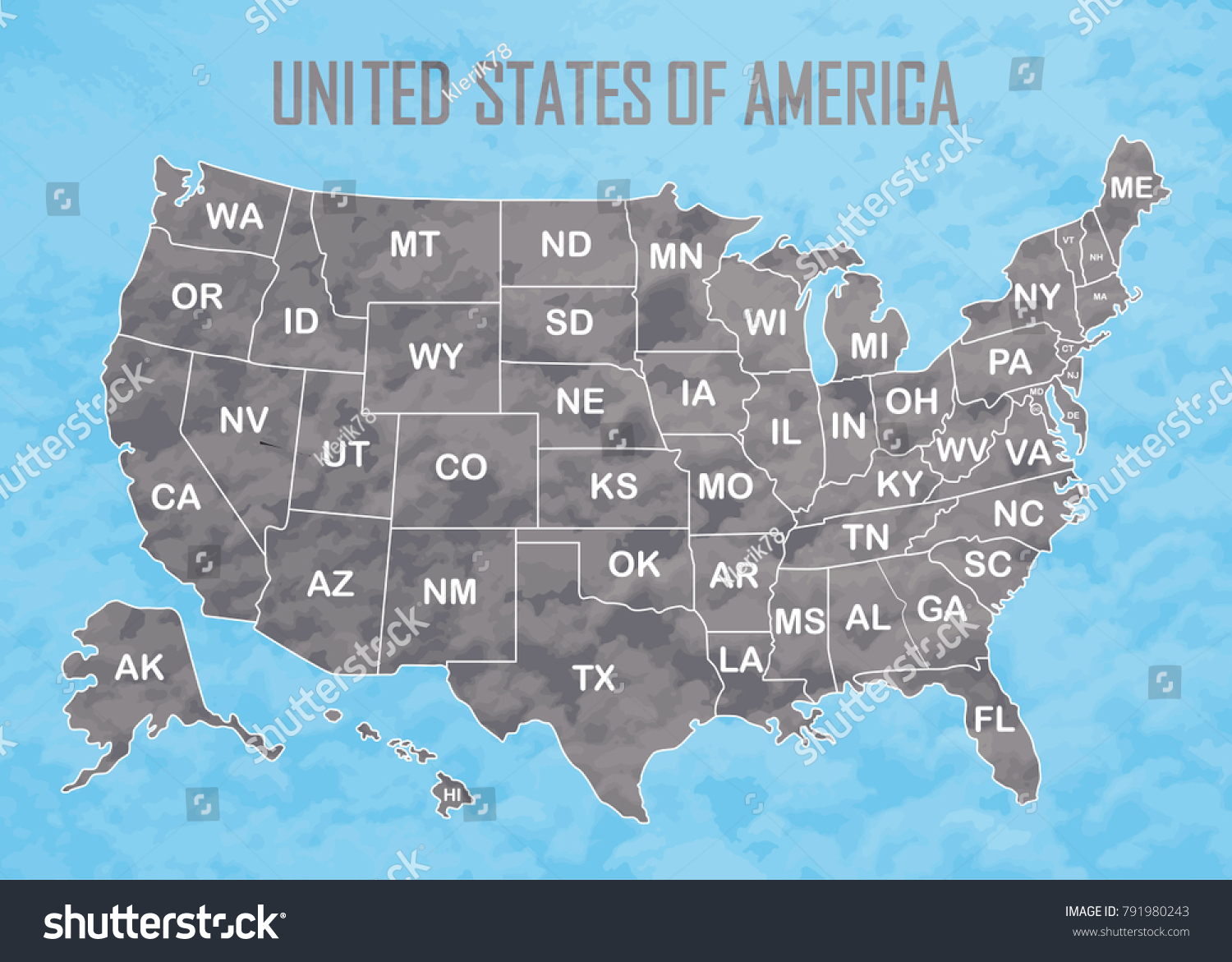 Poster Map United States America State Stock Photo Photo Vector
