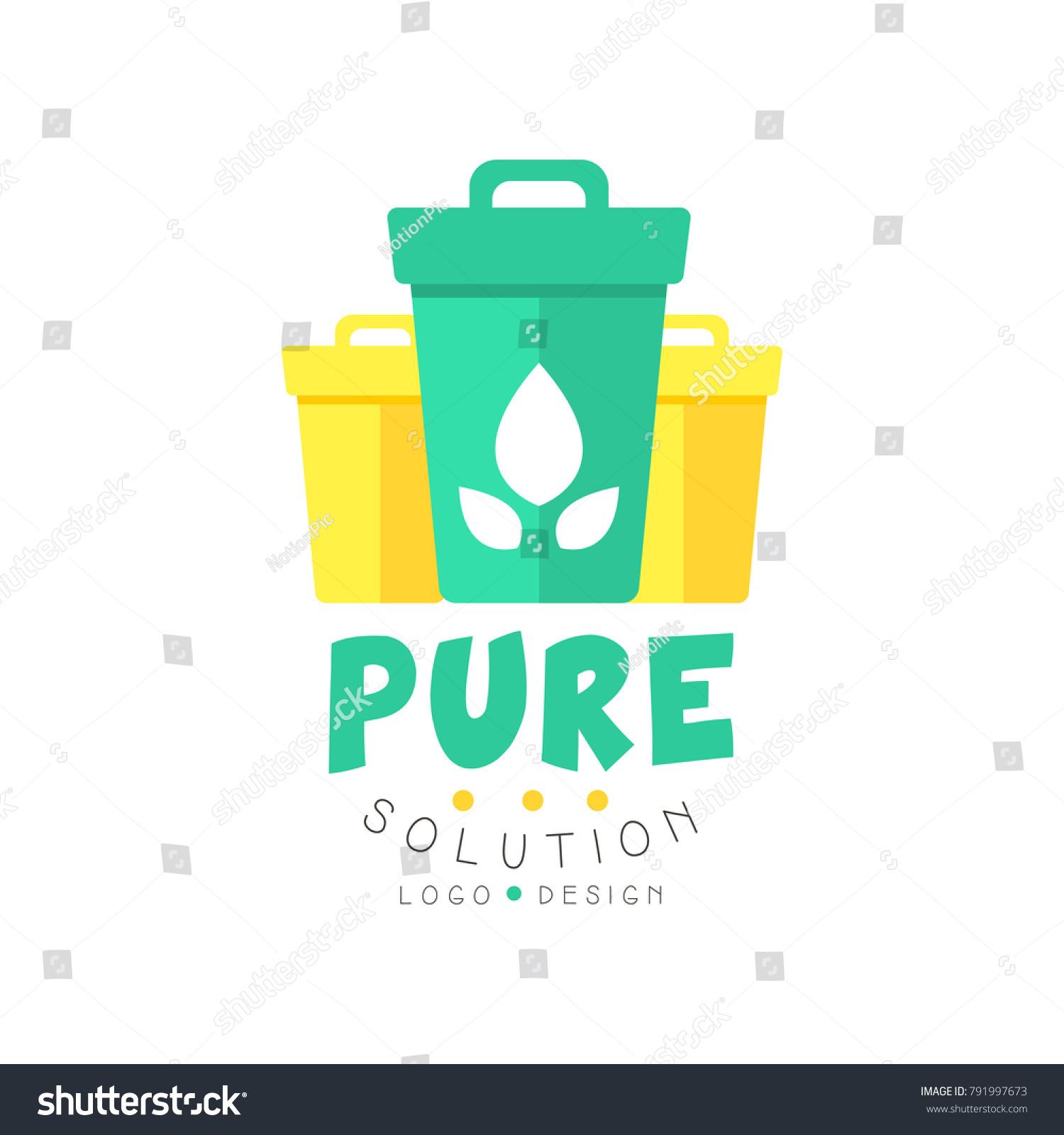 Original Pure Solution Logo Design Template Stock Vector (Royalty ...