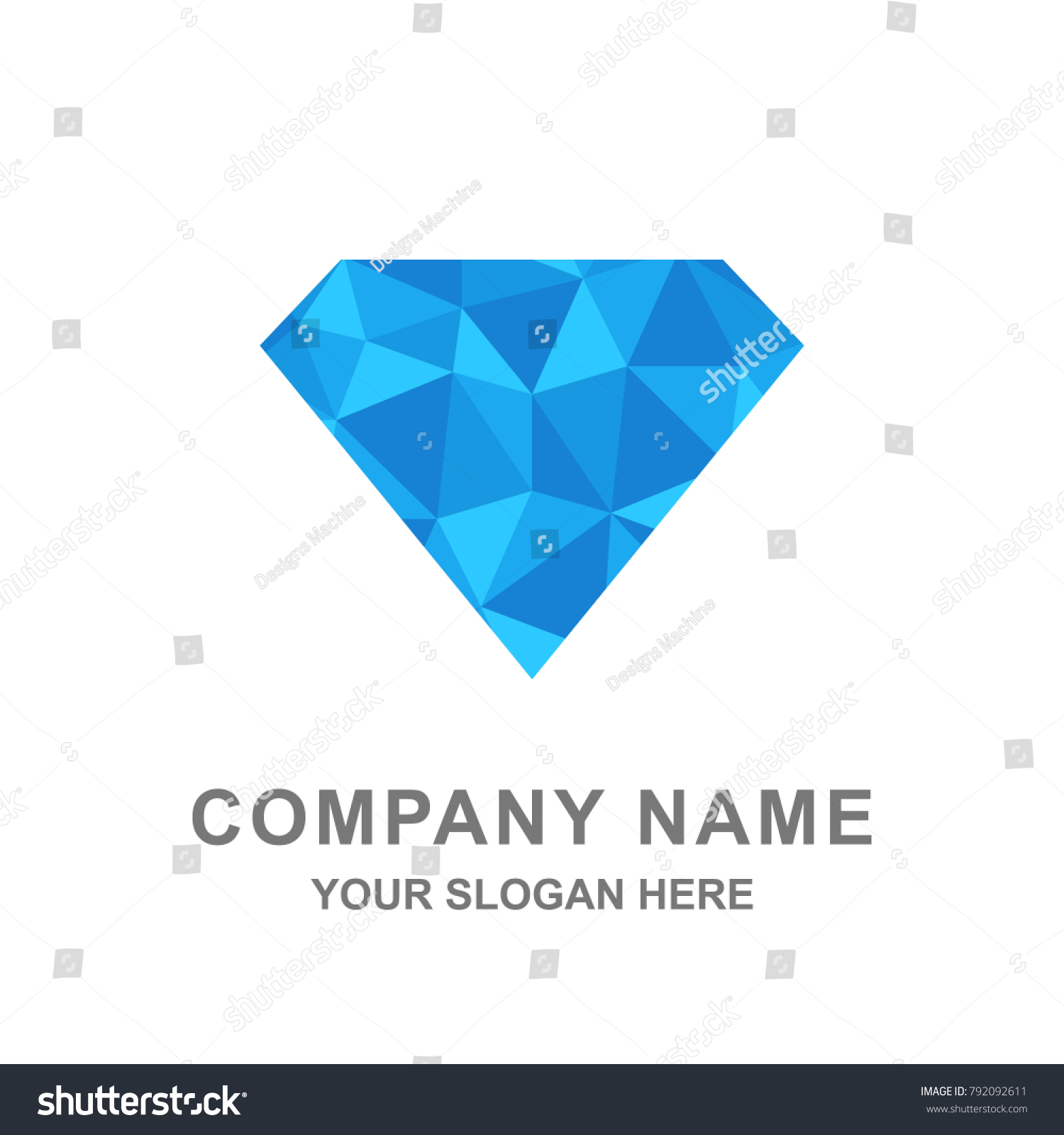 pink depositphotos shapes illustration polygon geometric poster trendy stock crystal color diamond cosmic of vector or