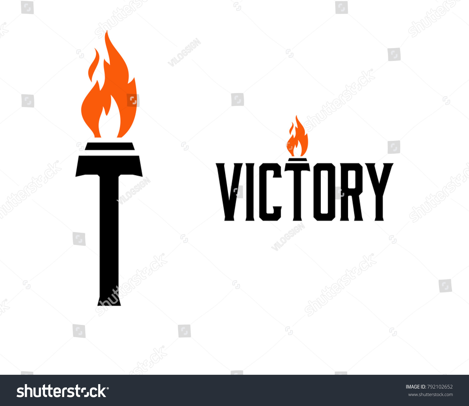 Letter Victory Olympic Torch Fire On Stock Vector 792102652 ... for Olympic Torch Fire  284dqh