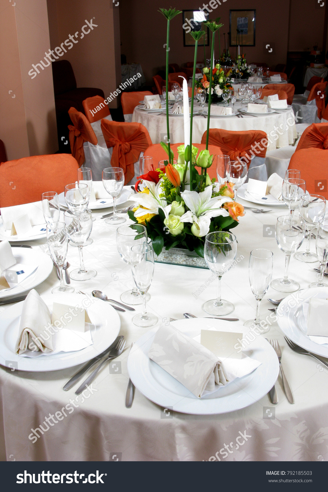 An Image Of A Table Setting At A Luxury Wedding Reception Ez Canvas
