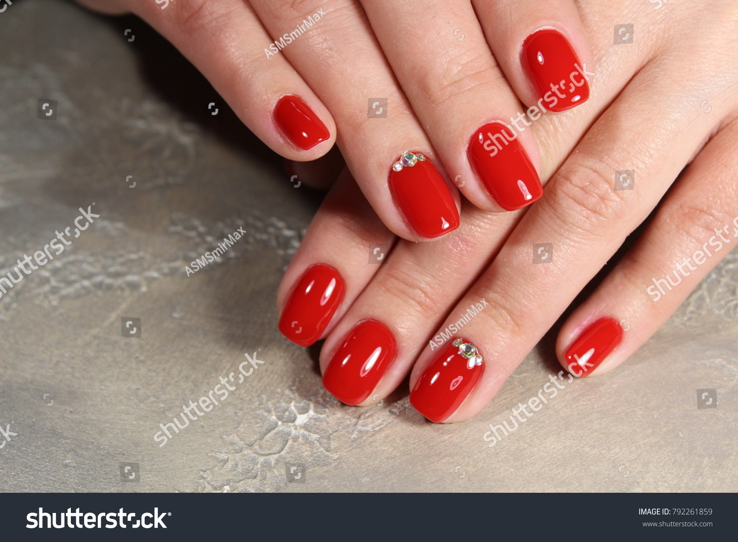 Hands Beautiful Manicure Natural Nails Gel Stock Photo (Edit Now ...