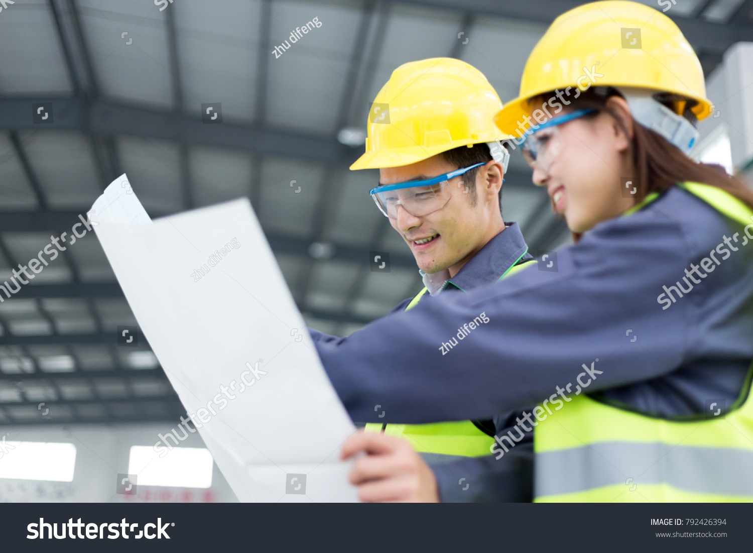 Young Chinese Man Woman Work Motor Stock Photo (Edit Now) 792426394