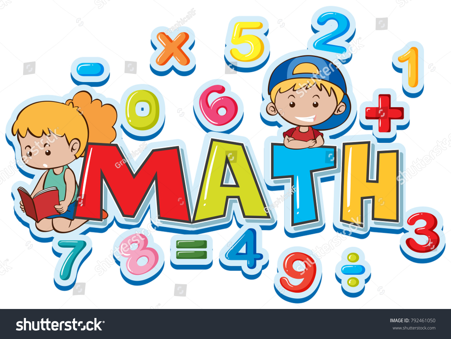 Font Design Word Math Many Numbers Stock Photo (Photo, Vector ...