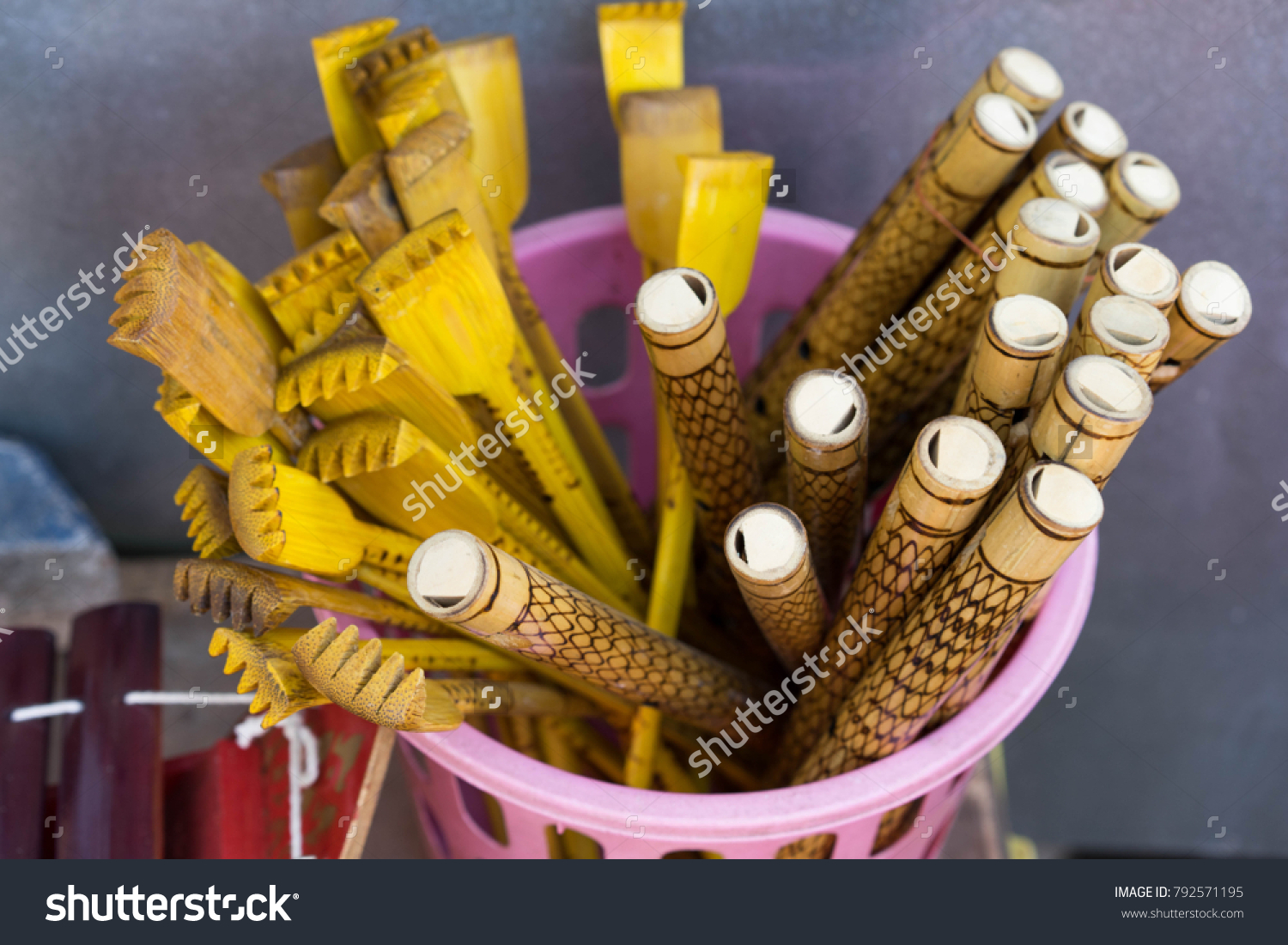 Wooden Flute Thai Classical Instruments Stock Photo Edit Now