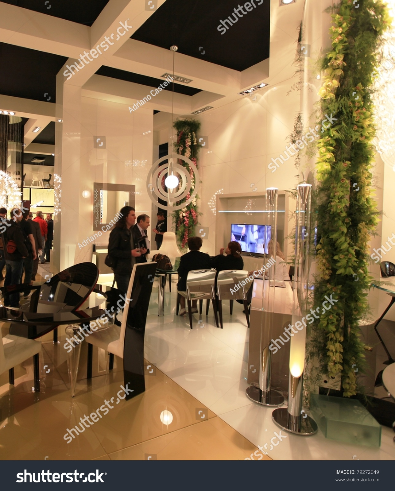 Milan april 13 visitors look at interior design for Interior design solutions