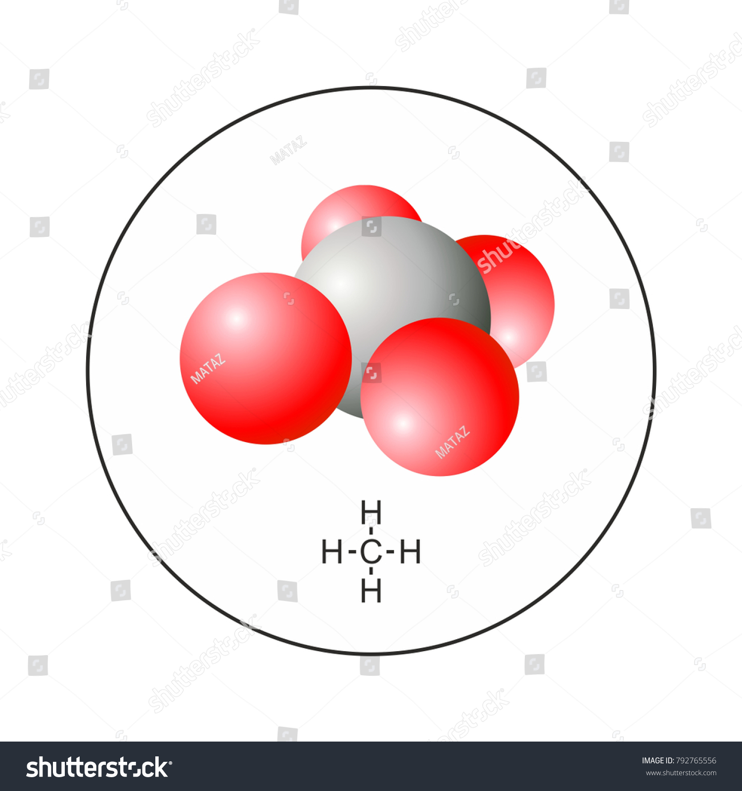 Ch4 methane molecule 3d model chemicel stock vector 792765556 ch4 methane molecule 3d model chemicel icon sign symbol for web and print biocorpaavc Gallery