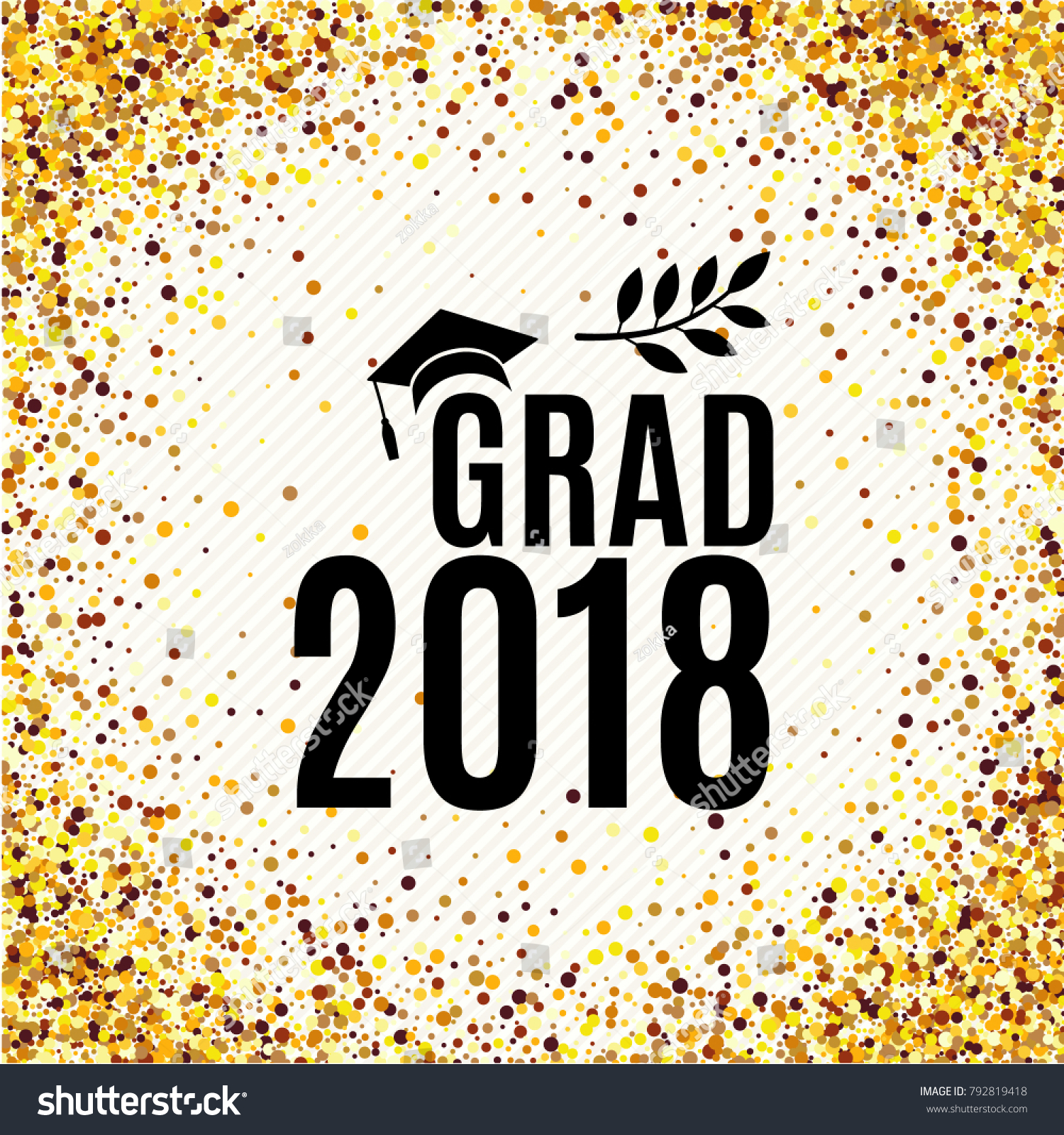 Graduation 2018 Class Greeting Card Hat Stock-Vektorgrafik ...