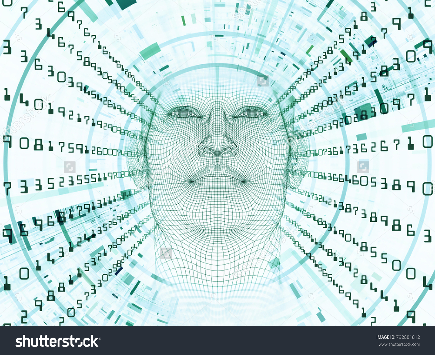 3 D Rendering Mind Field Series Graphic Stock Illustration 792881812 ...