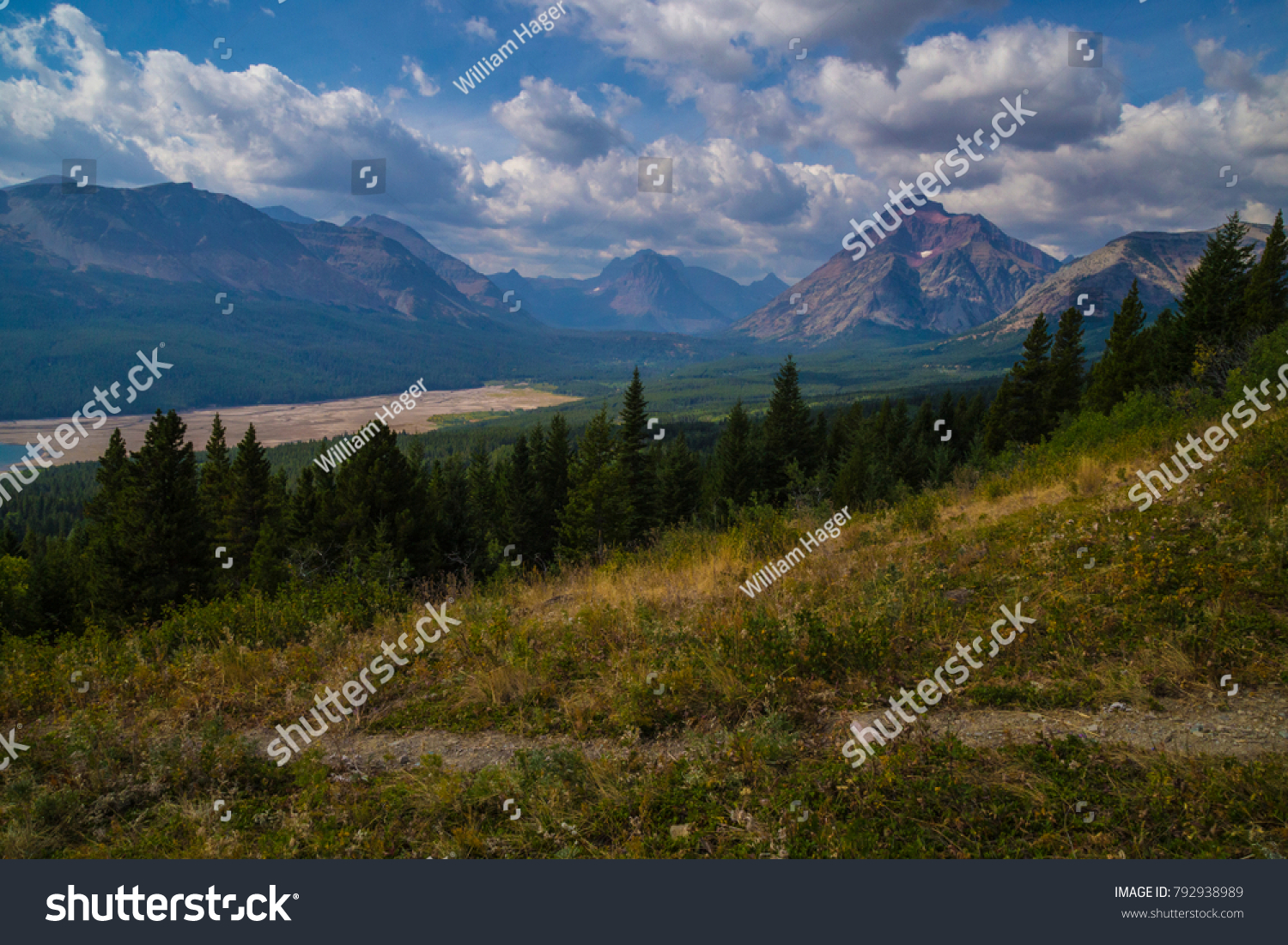 Glacier National Park Mountain Range Rockies Stock Photo Edit Now