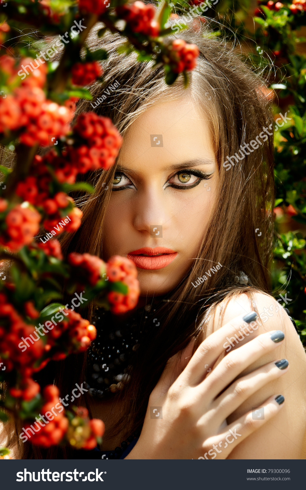 Beautiful Young Woman Long Brown Hair Stock Photo Edit Now