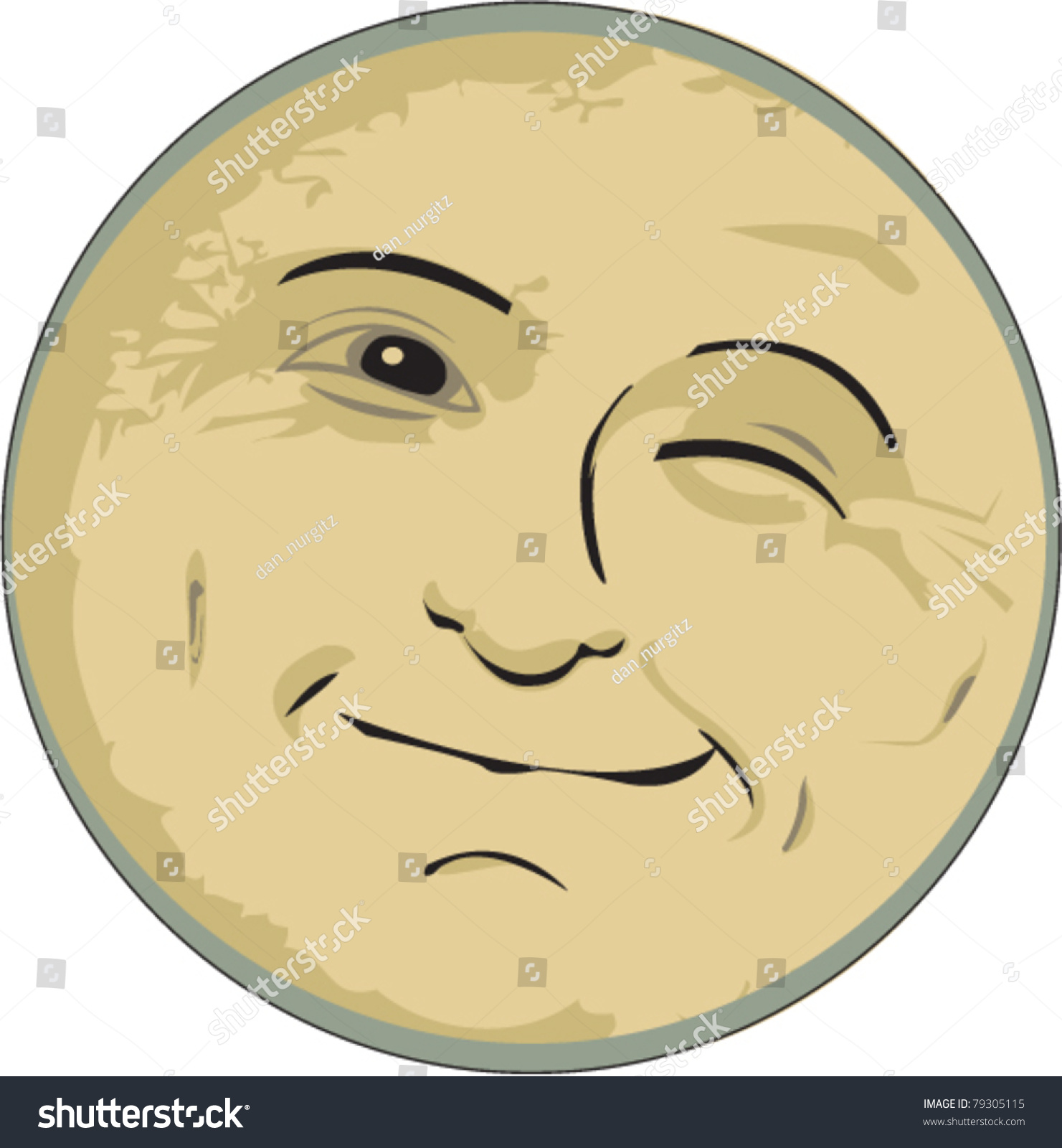 man in the moon clipart - photo #46