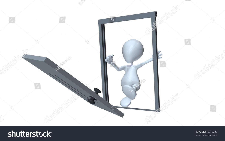 3d man kicking down a door  sc 1 st  Shutterstock & 3d Man Kicking Down Door Stock Illustration 79313230 - Shutterstock pezcame.com