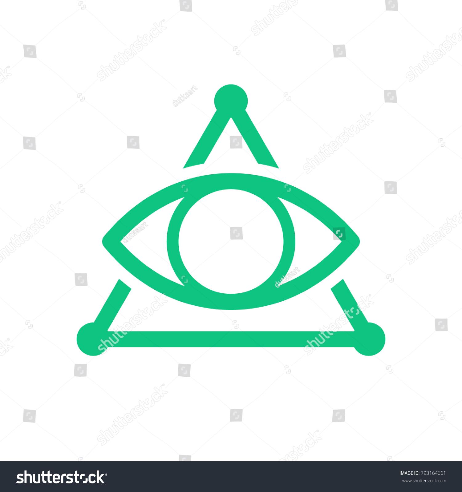 All Seeing Eye Symbol Modern Logo Stock Photo Photo Vector