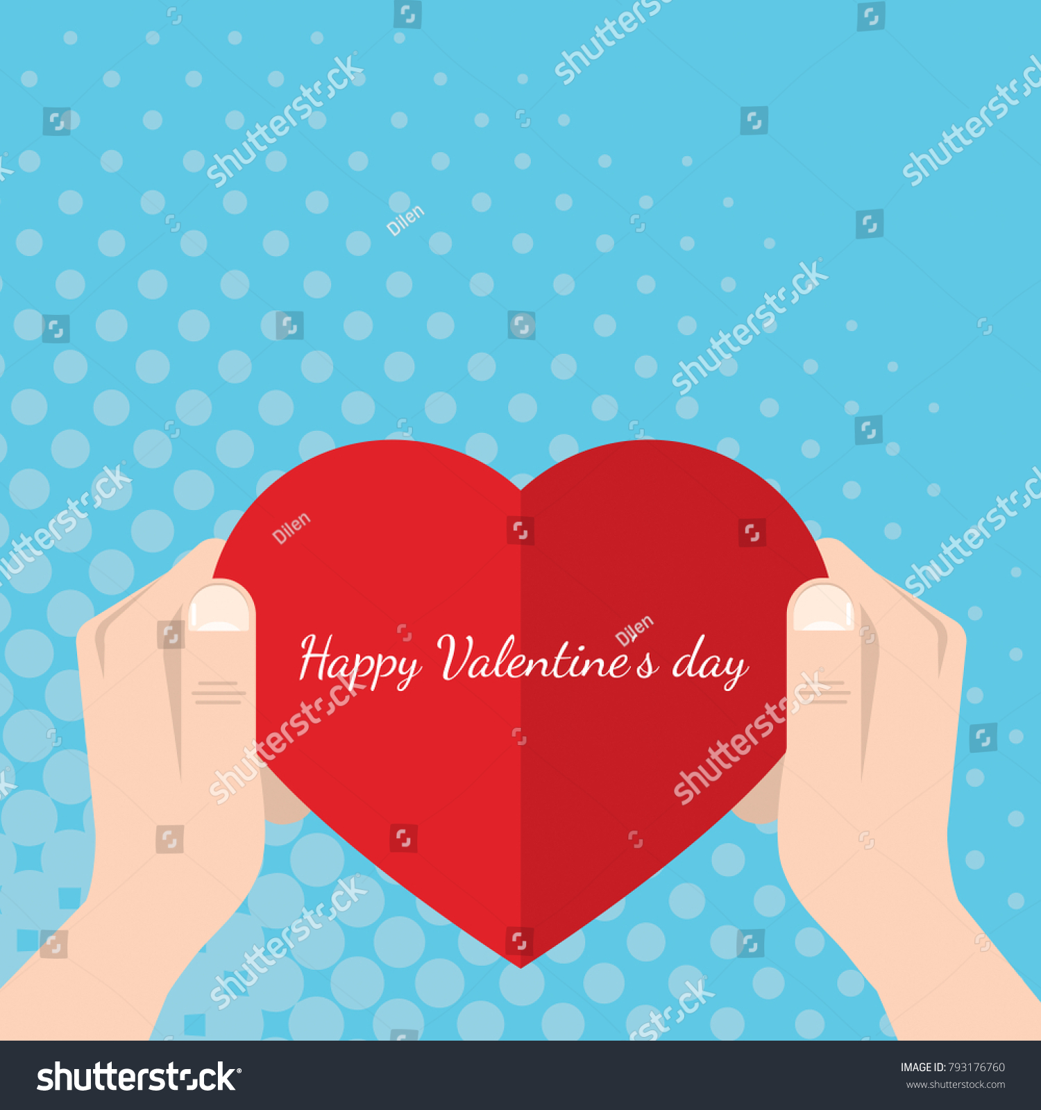 Happy valentines day valentines heartshaped greeting stock happy valentines day valentines heart shaped greeting card in m4hsunfo