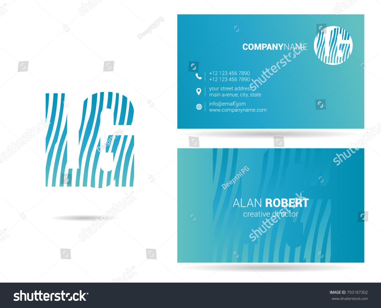 L g joint logo line letter stock vector hd royalty free 793187302 l g joint logo line letter design with business card template thecheapjerseys Image collections