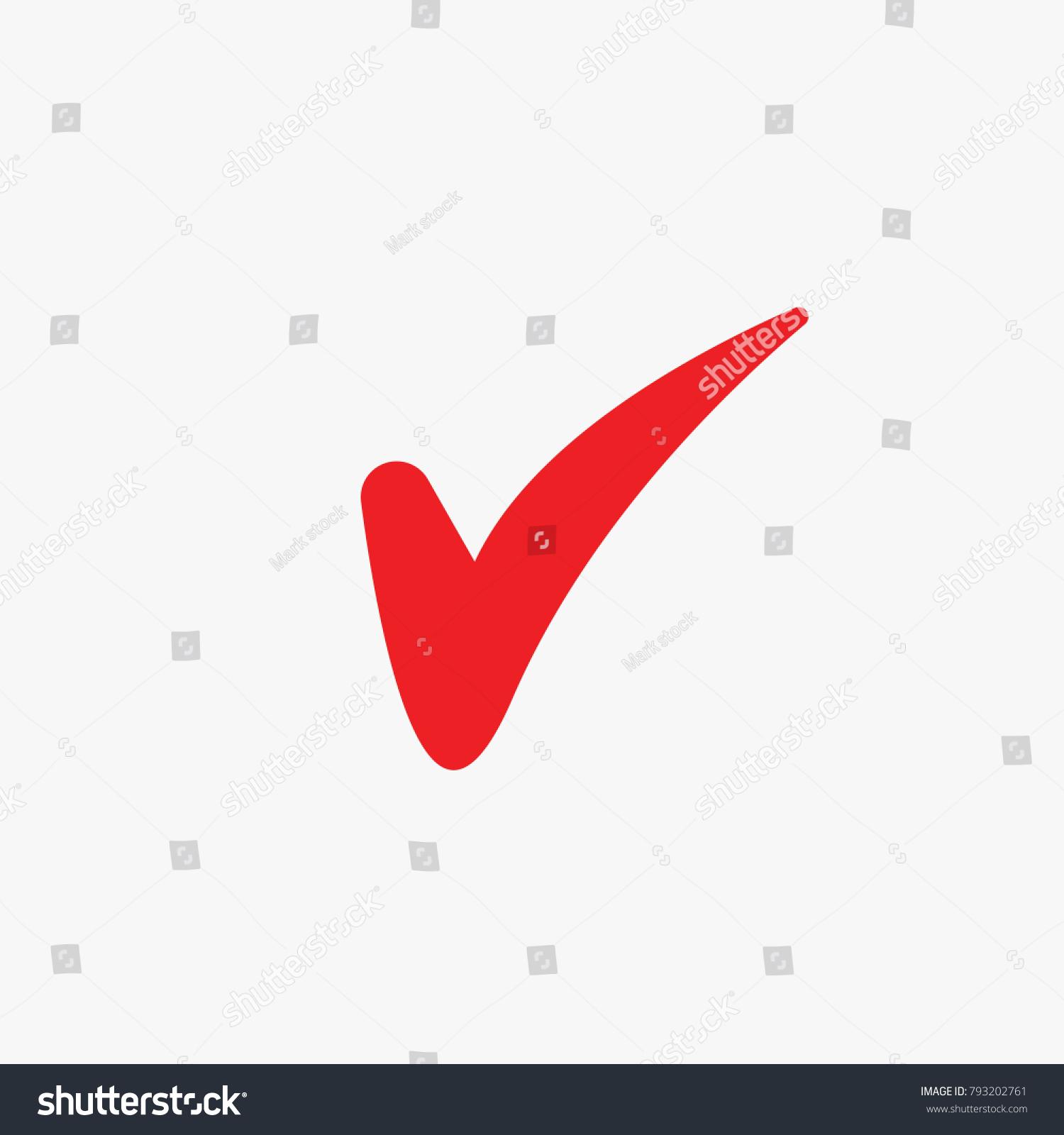 Red Tick Mark Correct Approved Your Stock Vektorgrafik Lizenzfrei