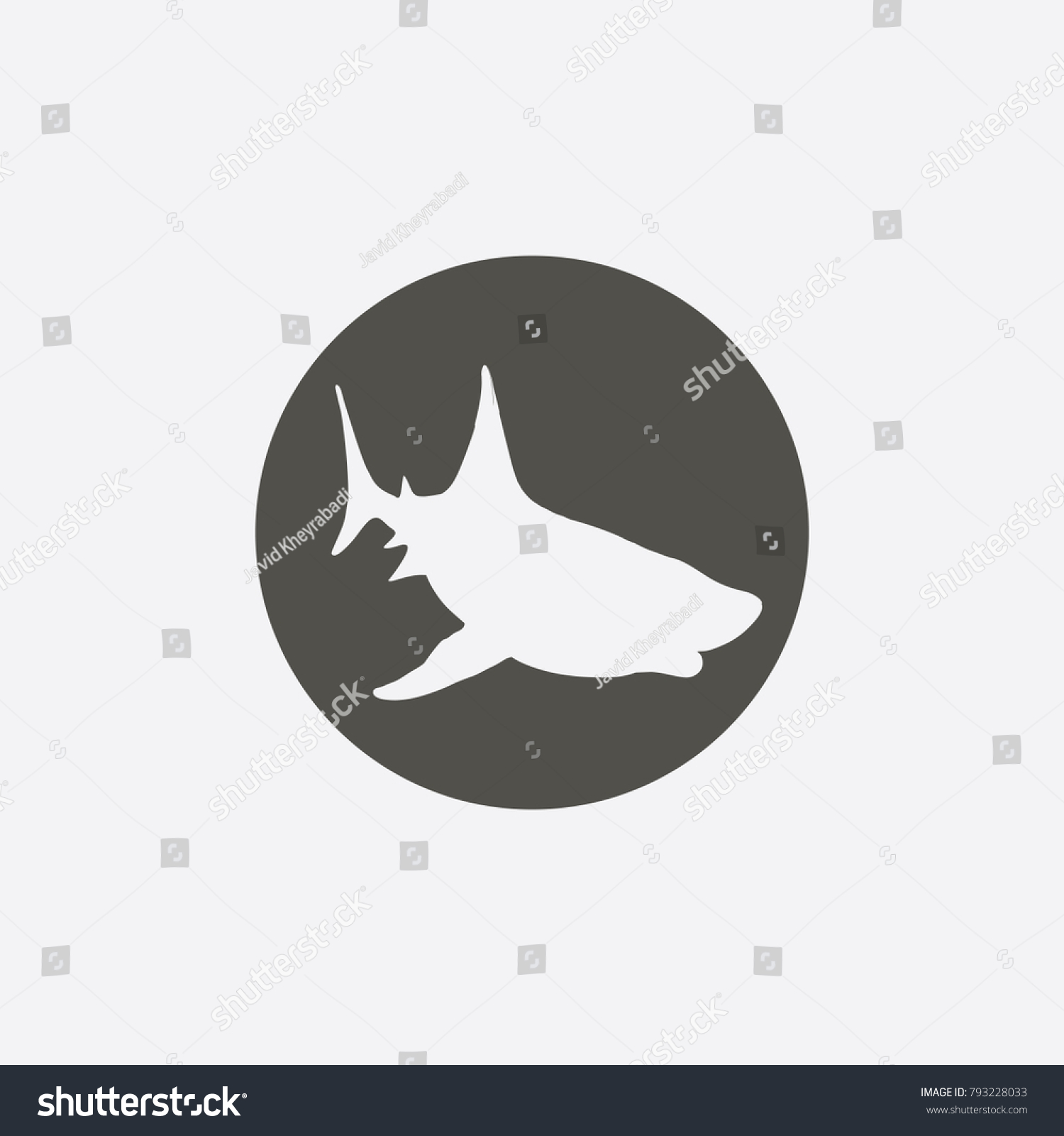 Shark Icon Vector Sign Symbol On White Background Ez Canvas