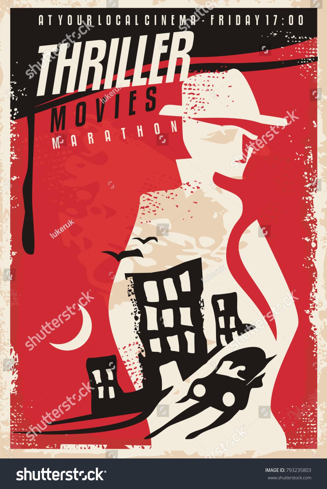 Creative Poster Design Thriller Movie Show Stock-Vektorgrafik ...