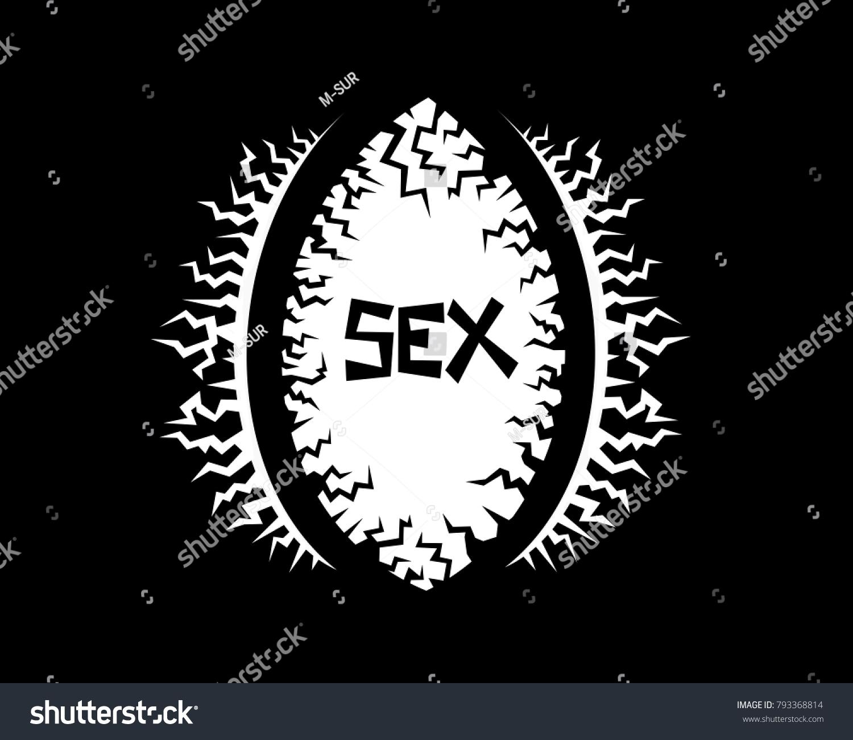 Sex Hole Shape Vagina Spooky Illustration Stock Vector Royalty Free