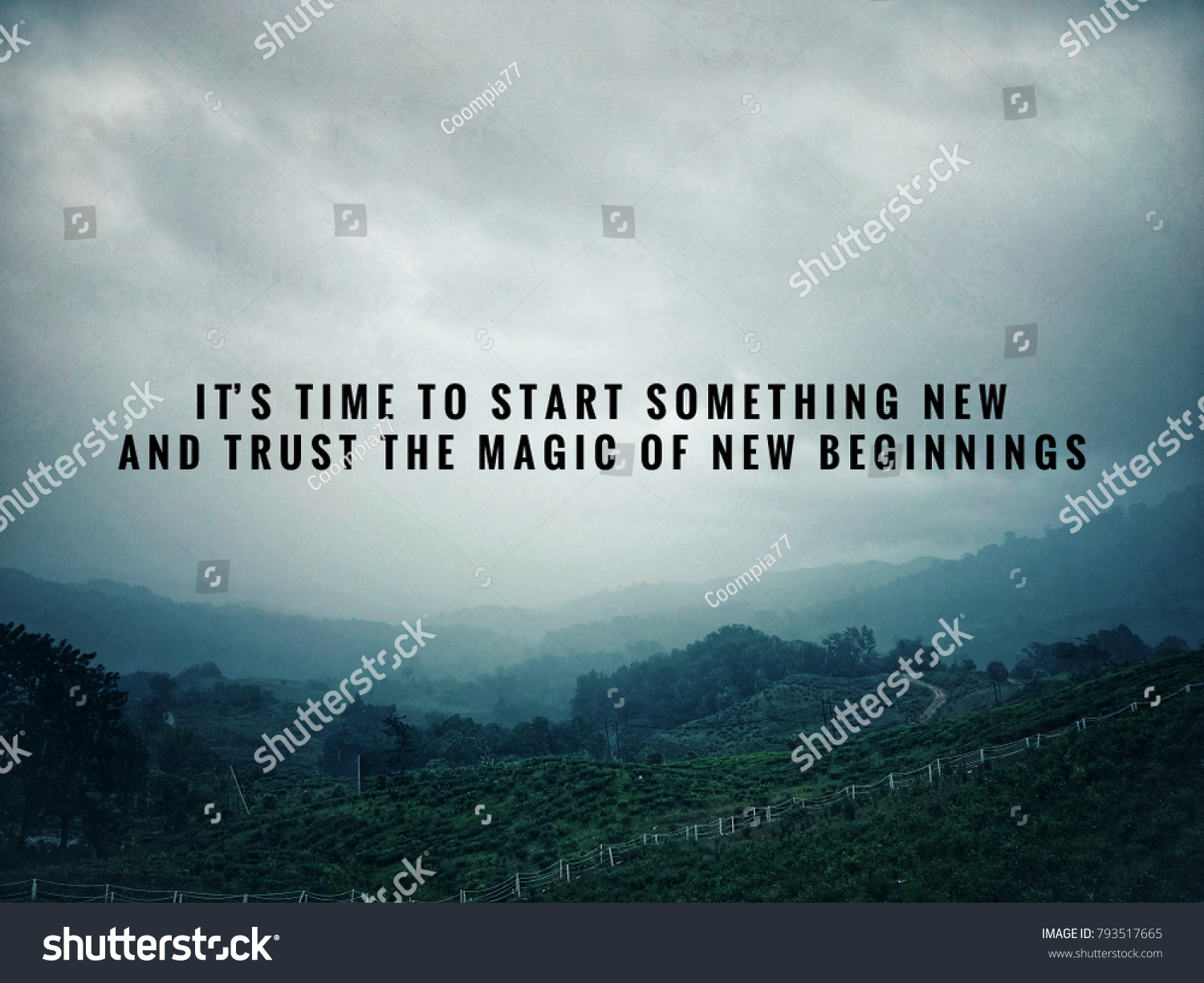 Motivational Inspirational Quotes Time Something New Stock Photo