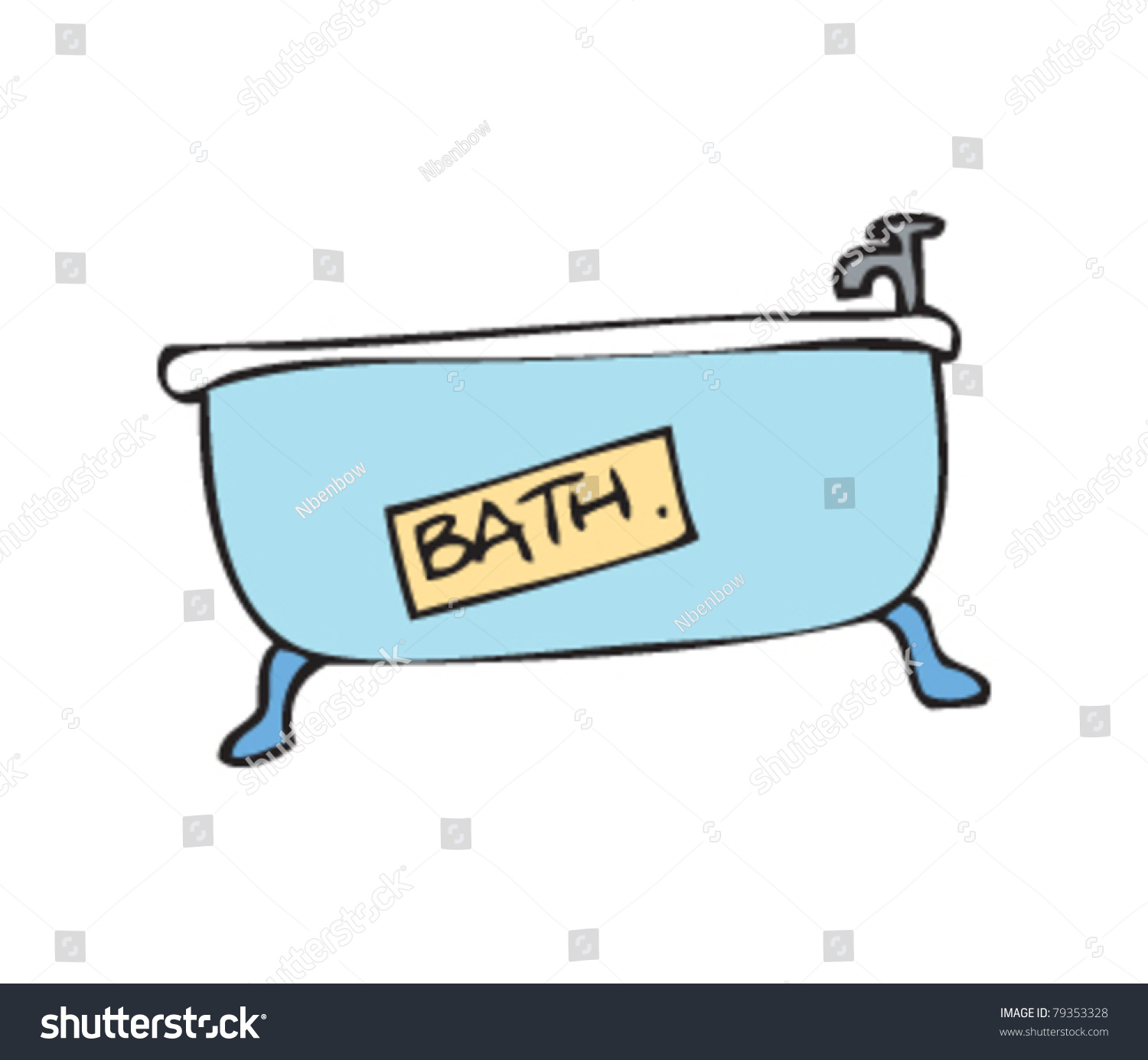 Drawing Of A Bath Stock Vector Illustration 79353328