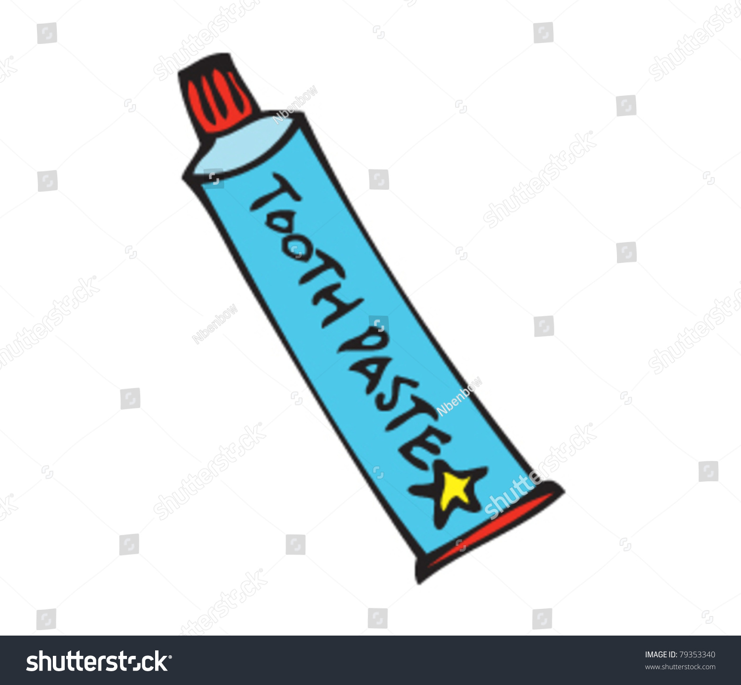 Drawing Toothpaste Stock Vector 79353340 Shutterstock